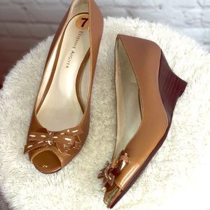 2/$50 New 2 inch Etienne Aigner open toe wedge